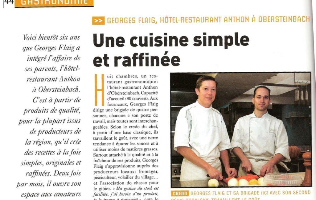 H tel restaurant anthon une cuisine simple et raffin e - Entree simple et raffinee ...